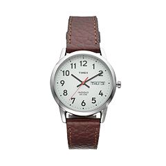 Timex Men's Wardrobe Essentials Leather Watch - T20041JT
