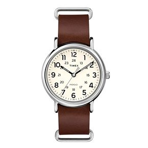 Timex Weekender Leather Watch