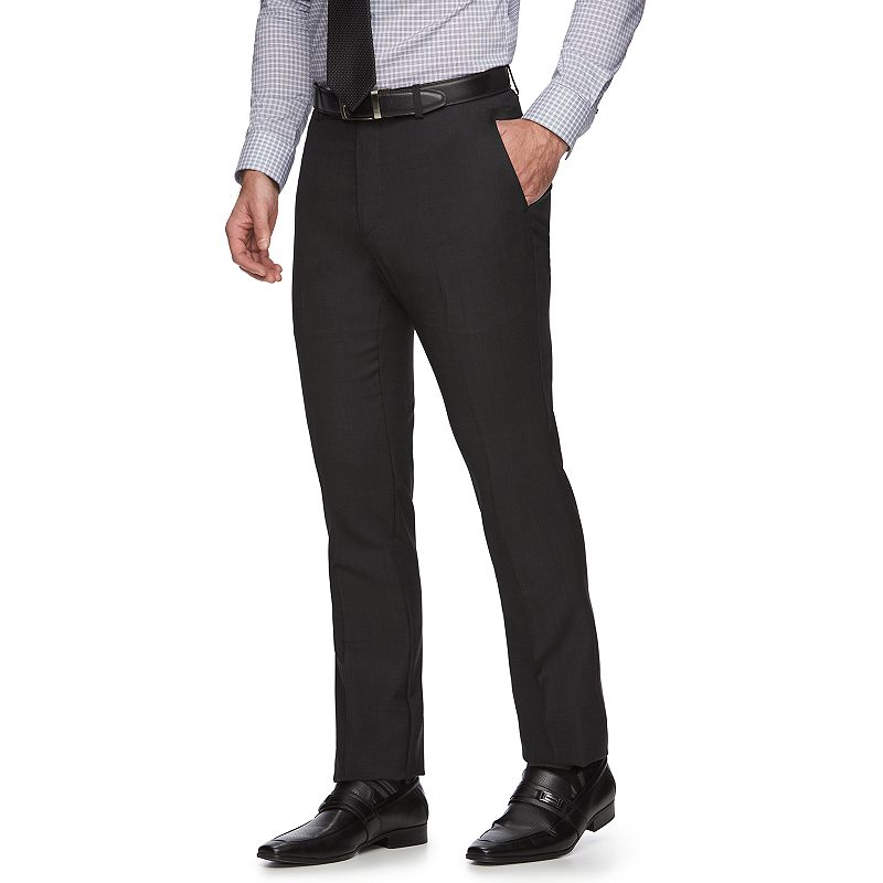 Marc Anthony Slim-Fit Black Suit Pants - Men