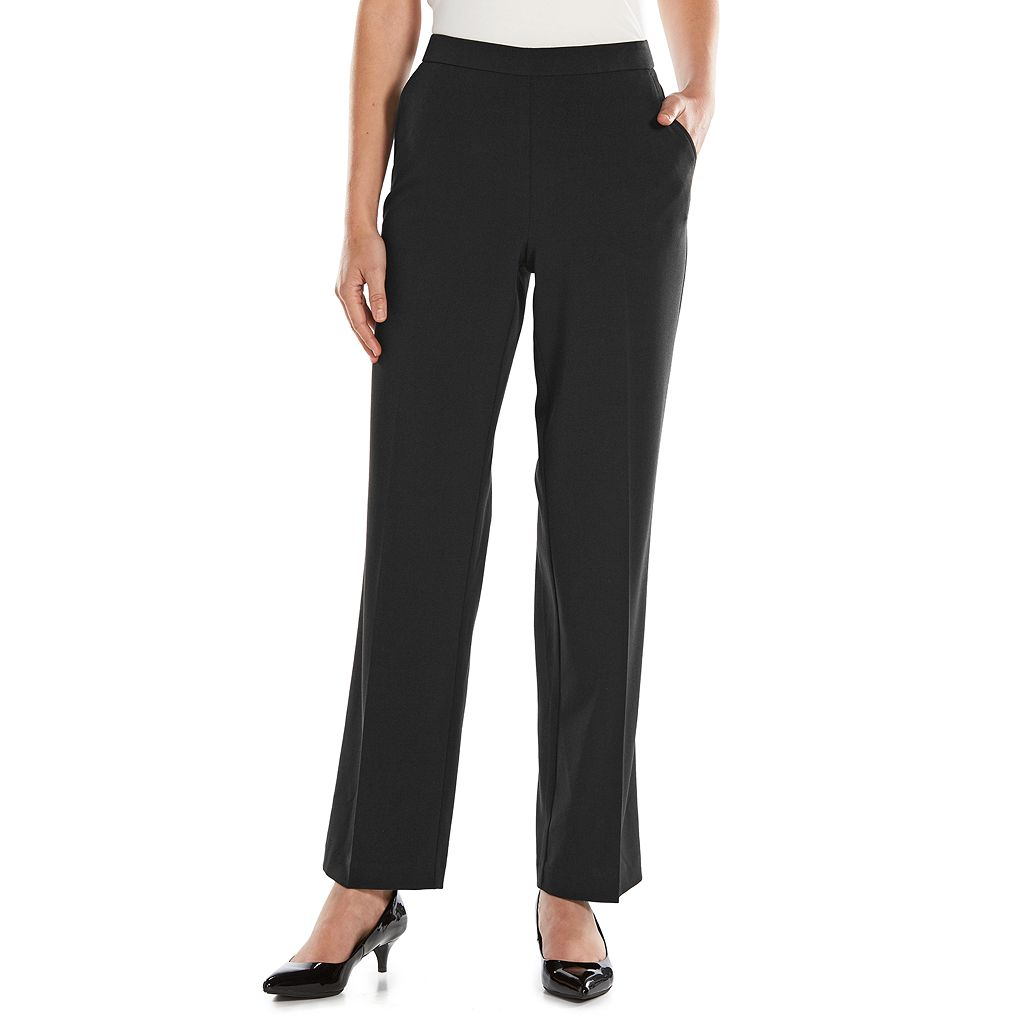Petite Croft & Barrow® Solid Pull-On Dress Pants