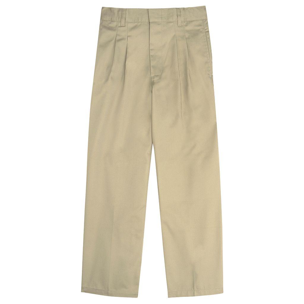 Boys 8-20 French Toast School Uniform Modern-Fit Adjustable-Waist Double-Knee Pleated Pants