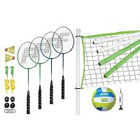 Franklin Sports Intermediate Volleyball & Badminton Set