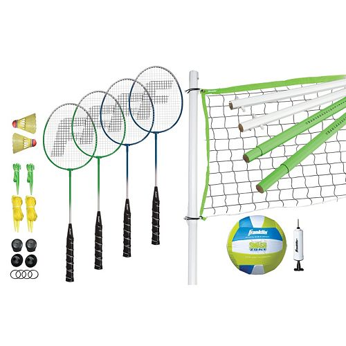 Franklin Sports Intermediate Volleyball & Badminton Set