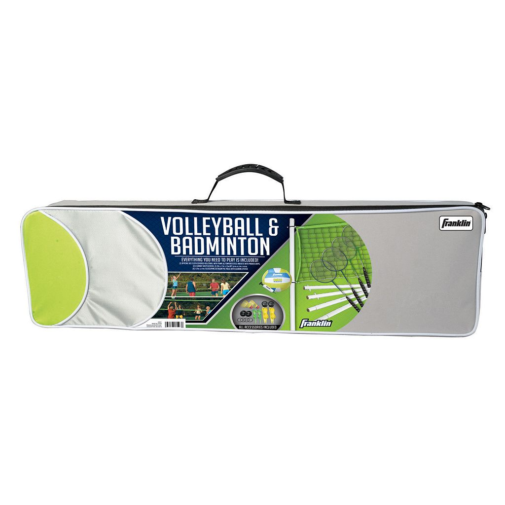 Franklin Sports Intermediate Volleyball and Badminton Set