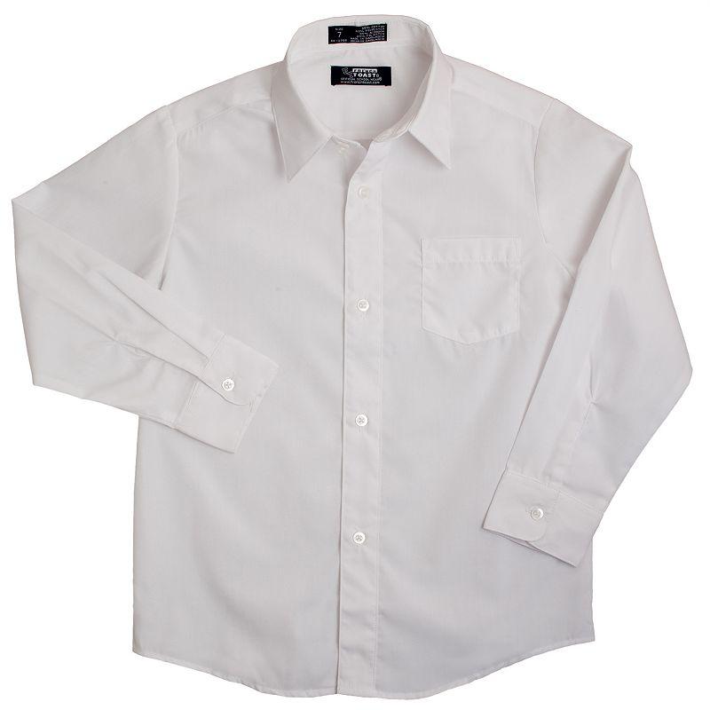 French Toast Solid School Uniform Dress Shirt - Boys 8-20