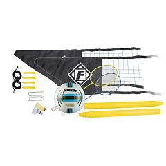 Franklin Sports Easy Set Up Volleyball & Badminton Combo Set