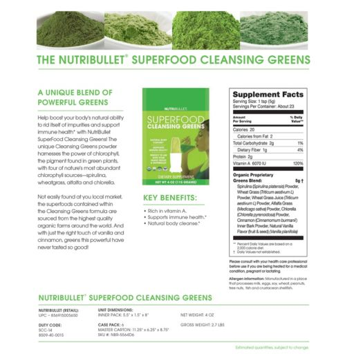 NutriBullet SuperFood Cleansing Greens Mix