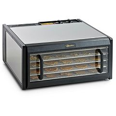 Excalibur 5-Tray Stainless Steel Food Dehydrator with Clear Door