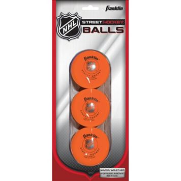 Franklin Sports NHL 3-pk. High Density Street Hockey Balls
