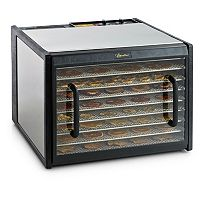 Excalibur 9-Tray Stainless Steel Food Dehydrator with Clear Door