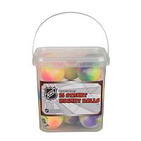 Franklin Sports NHL Extreme Color High Density Street Hockey 15-Ball Bucket