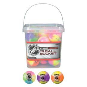 Franklin Sports NHL Extreme Color High Density Street Hockey 15-Ball Bucket