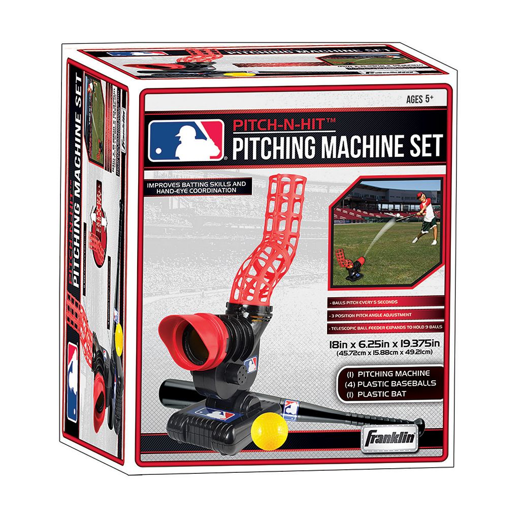 Franklin Sports MLB Pitch-N-Hit Pitching Machine Set