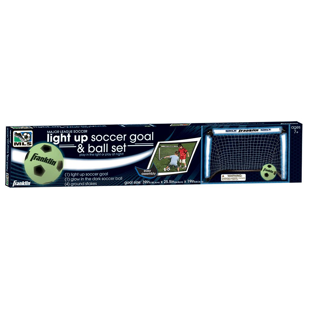 Franklin MLS Light-Up Soccer Goal and Glow-in-the-Dark Ball Set