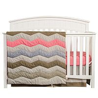Trend Lab Cocoa Coral 3-pc. Crib Set
