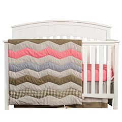 Trend Lab Cocoa Coral 3 pc Crib Set