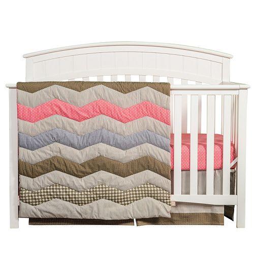 Trend Lab Cocoa Coral 3-pc. Crib Set