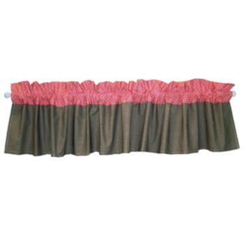 Trend Lab Cocoa Coral Window Valance