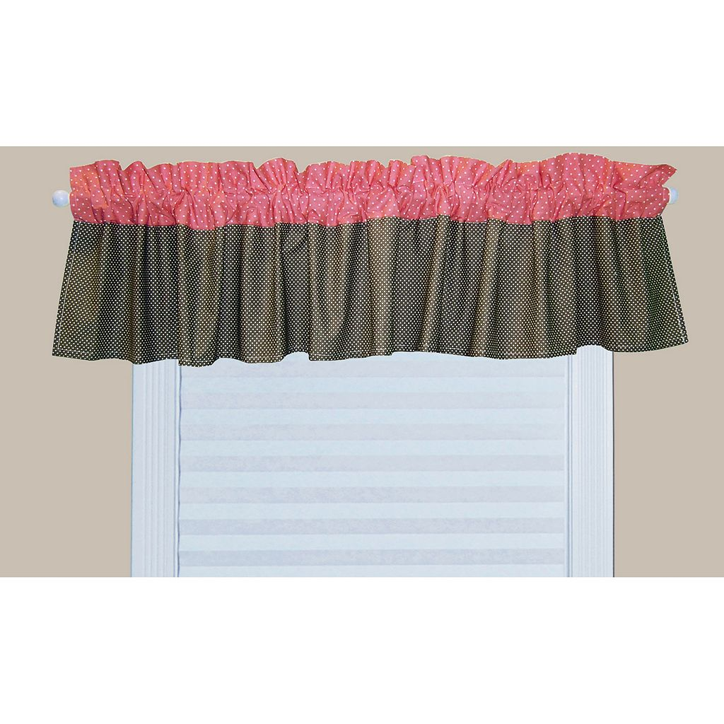 Trend Lab Cocoa Coral Window Valance