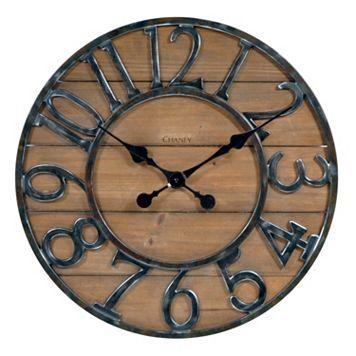 Chaney Rustic Wall Clock