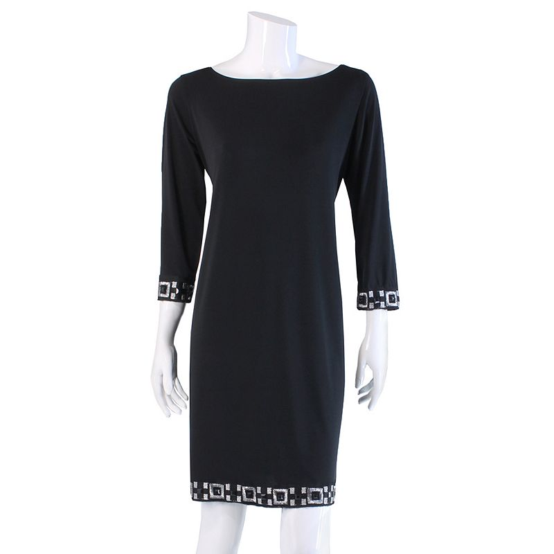Tiana B Embellished Shift Dress - Women's
