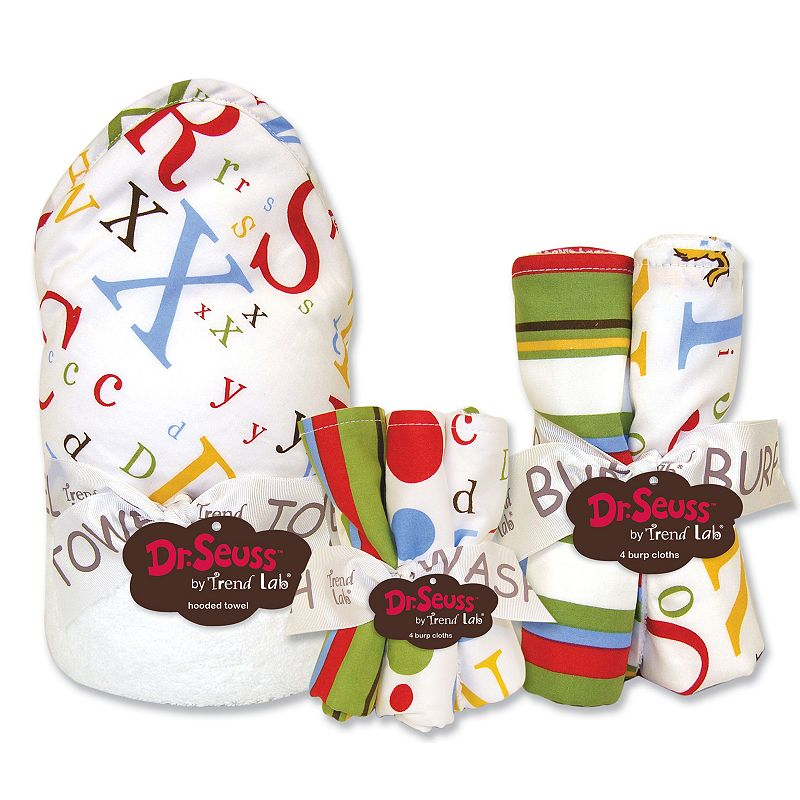 Dr. Seuss ABC 10-pc. Hooded Towel, Washcloth & Burp Cloth Set by Trend Lab