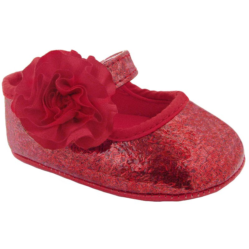 Wee Kids Glitter Skimmer Shoes - Baby