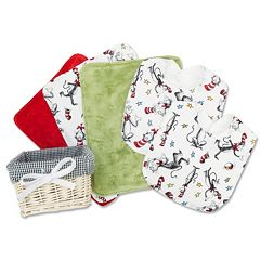 Dr. Seuss The Cat in the Hat 7 pc Gift Basket Set by Trend Lab