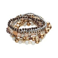 Mudd® Bead Stretch Bracelet Set