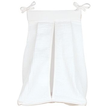 Trend Lab White Pique Diaper Stacker