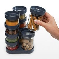Joseph Joseph SpiceStore 20-pc. Glass Storage Container Set with Carousel Base