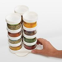 Joseph Joseph SpiceStore 20 pc Glass Storage Container Set with Carousel Base