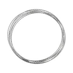Sterling Silver Interlocking Bangle Bracelet