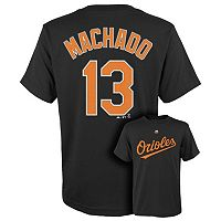 Boys 8-20 Majestic Baltimore Orioles Manny Machado Player Name and Number Tee