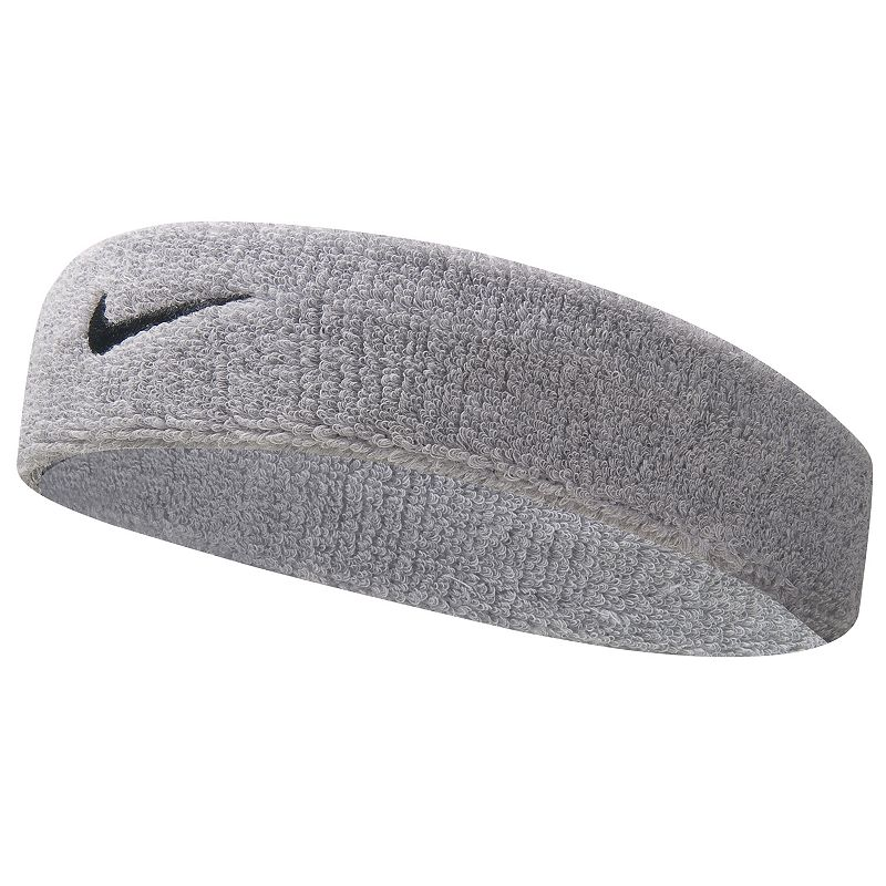 Nike Swoosh Headband - Adult, Light Grey Featuring signature Swoosh embroidery, this men's Nike headband is great for any activity. Width: 2-in. One size fits most Fabric & Care Cotton/nylon/rubber Machine wash Imported  Color: Light Grey. Gender: female. Age Group: adult.