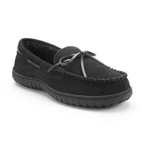Chaps Suede Moccasin Slippers - Men's