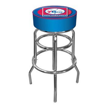Philadelphia 76ers Padded Swivel Bar Stool
