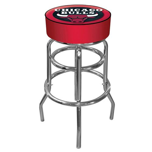 Chicago Bulls Padded Swivel Bar Stool