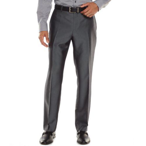 Men's Apt. 9® Extra-Slim Herringbone Gray Suit Pants