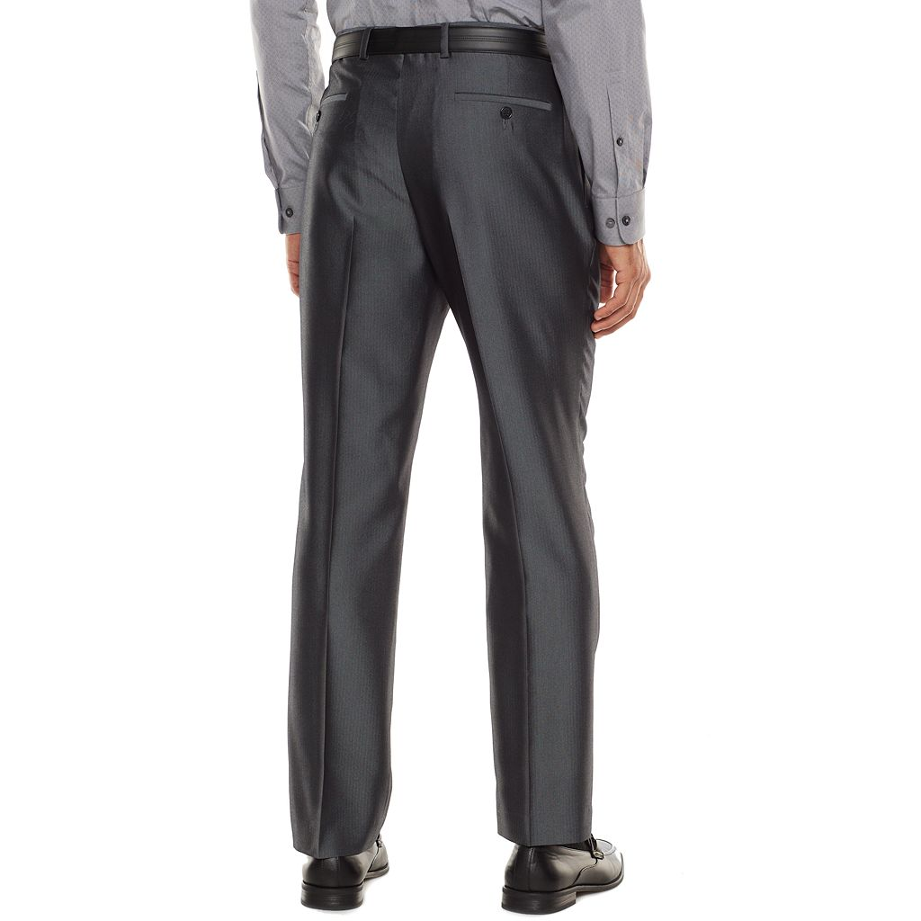 Men's Apt. 9® Extra-Slim Herringbone Gray Suit Pants