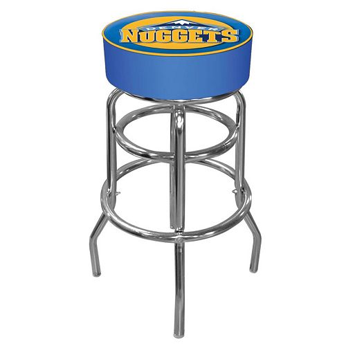 Denver Nuggets Padded Swivel Bar Stool