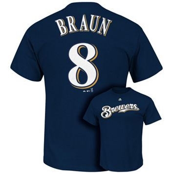 Men's Majestic Milwaukee Brewers Ryan Braun Tee