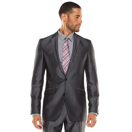 Men's Apt. 9® Extra-Slim Herringbone Gray Suit Jacket