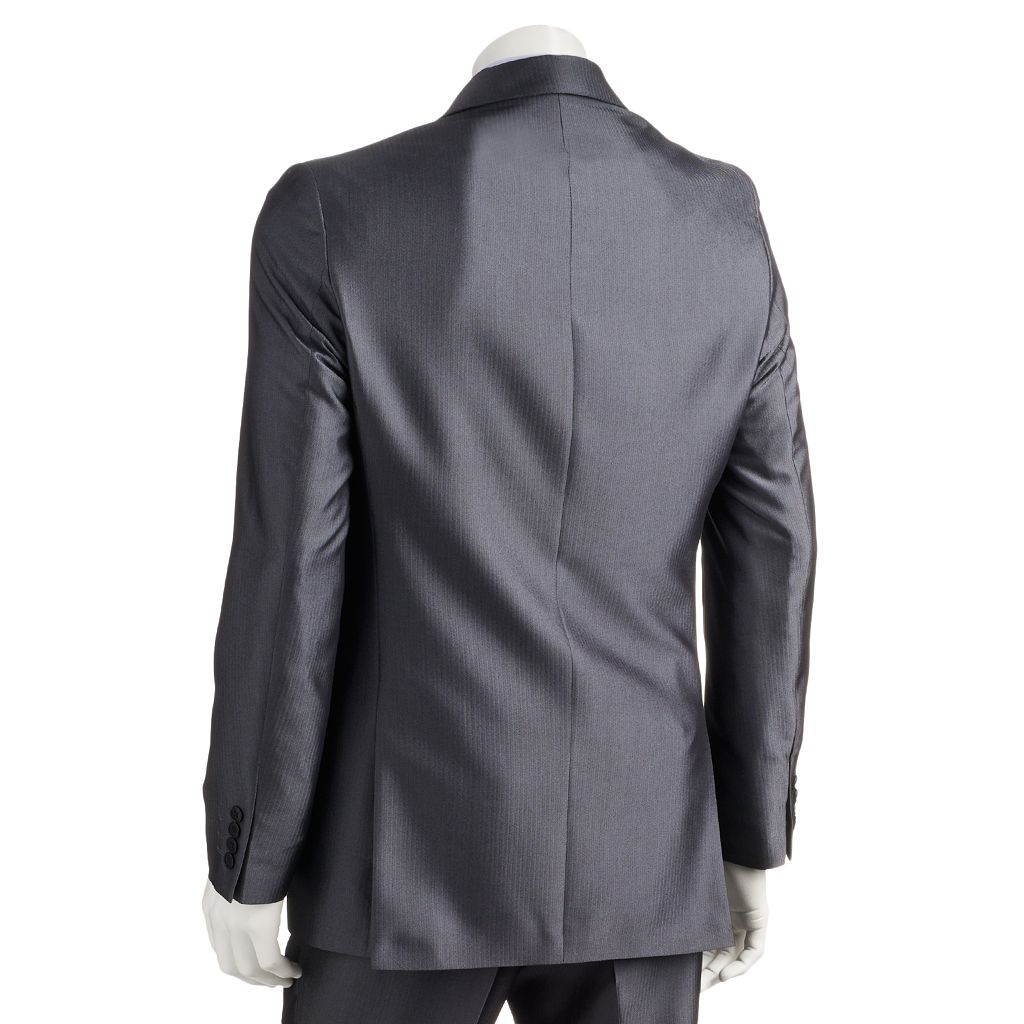 Men's Apt. 9® Extra-Slim Herringbone Gray Suit Jacket