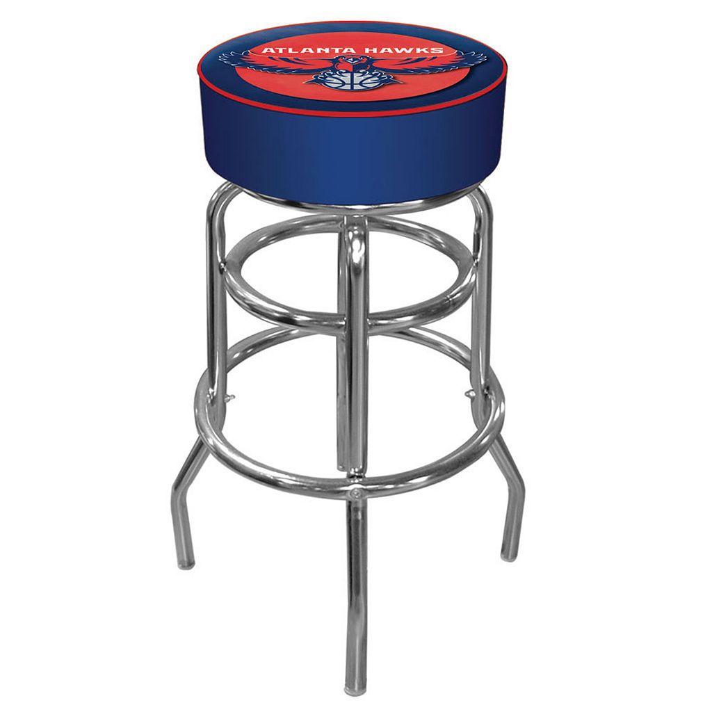 Atlanta Hawks Padded Swivel Bar Stool