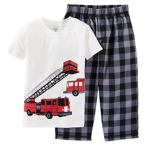 a6b9238e76a4 Carter s Fire Truck Rescue Pajama Set - Toddler