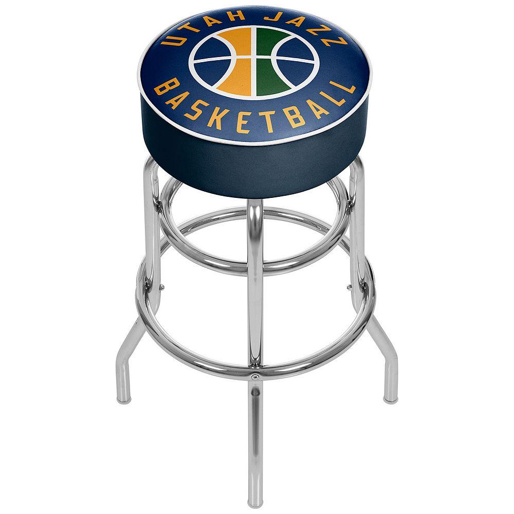 Utah Jazz Padded Swivel Bar Stool