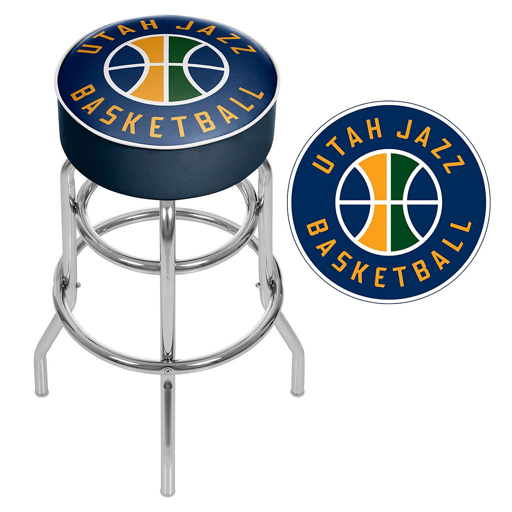 Utah Jazz Padded Swivel Bar Stool