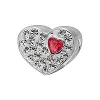 Individuality Beads Sterling Silver Crystal Heart Bead