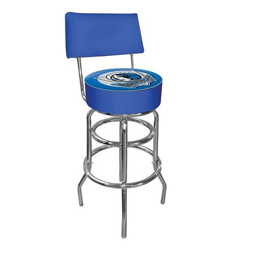 Dallas Mavericks Padded Swivel Bar Stool with Back